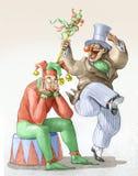Polityczna rzeczywistość pokonuje komiczną wyobraźnię ilustracja wektor