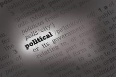 Polityczna słownik definicja obrazy stock