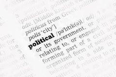 Polityczna słownik definicja zdjęcie stock