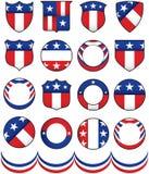 Polityczne odznaki Zdjęcia Royalty Free