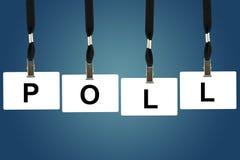 Polityczny ankietowy słowo Fotografia Stock