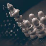 Polityczny dialog Niebezpieczeństwo szachowa gra Konflikt interesów Fotografia Royalty Free