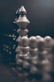Polityczny dialog Niebezpieczeństwo szachowa gra Konflikt interesów Zdjęcia Royalty Free