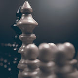Polityczny dialog Niebezpieczeństwo szachowa gra Konflikt interesów Fotografia Stock