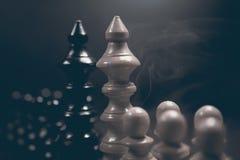 Polityczny dialog Niebezpieczeństwo szachowa gra Konflikt interesów Obraz Stock