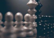 Polityczny dialog Niebezpieczeństwo szachowa gra Konflikt interesów Obrazy Royalty Free