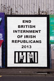 Polityczny malowidło ścienne fotografia stock
