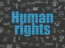 Polityczny pojęcie: Prawa Człowieka na ściennym tle Fotografia Royalty Free