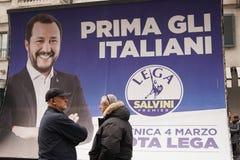 Polityczny wiec w Mediolan zdjęcie royalty free