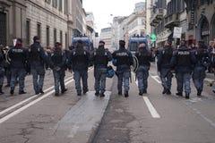 Polityczny wiec w Mediolan zdjęcie stock