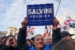 Polityczny wiec w Mediolan zdjęcia royalty free
