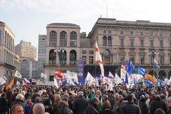 Polityczny wiec w Mediolan obrazy royalty free