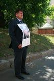 Polityk Ivan Starikov protestować w poparciu dla Khodorkovsky Obrazy Stock