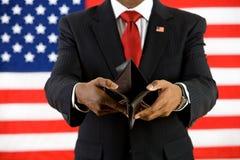Polityk: Pusty portfel Pokazuje ubóstwa pojęcie Obraz Royalty Free