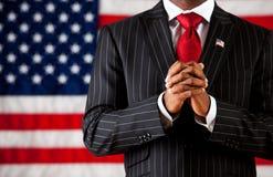 Polityk: Ręki Spinać w modlitwie obraz stock