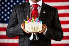 Polityk: Wszystkiego Najlepszego Z Okazji Urodzin Ameryka fotografia stock