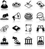 Polityka ikony ilustracja wektor
