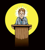 polityka społeczeństwo okaleczający mówca Obraz Royalty Free