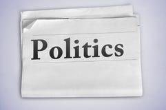 Polityki słowo Zdjęcie Stock