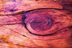 Poliuretano en la madera oscura Foto de archivo libre de regalías