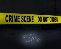 Polizei-Absperrband-Hintergrund Lizenzfreie Stockfotografie