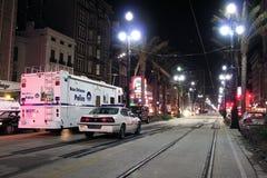 Polizei auf Canal Street lizenzfreies stockbild