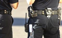 Polizei auf den Straßen Stockfoto