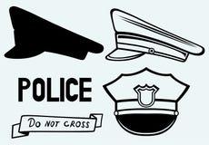 Polizei bedeckt mit einer Kappe Lizenzfreie Stockbilder