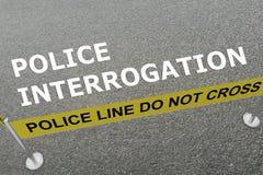 Polizei-Befragungskonzept Lizenzfreie Stockfotos