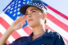 Polizei begrüßt Lizenzfreies Stockfoto