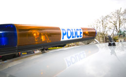 Polizei beleuchtet Stockfotos