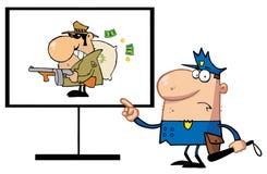 Polizei bemannt Lizenzfreies Stockbild