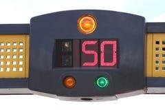 Polizei beschleunigt Kameraradar Lizenzfreies Stockbild
