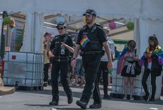 Polizei in Blackpool Pride Festival stockfotos