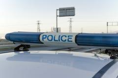 Polizei-Blaulicht Lizenzfreie Stockfotografie