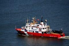 Polizei-Boot stockfotos