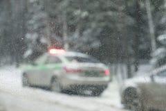 Polizei Carv mit Blinklicht Lizenzfreie Stockfotos