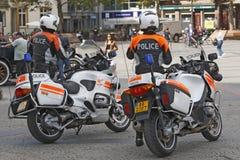 Polizei in der Aktion in Luxemburg Lizenzfreie Stockfotografie