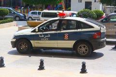 Polizei in der tunesischen Stadt von Sousse lizenzfreie stockfotos