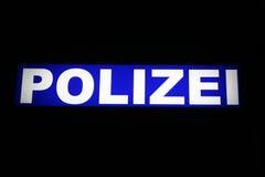 Polizei, Duitse politie Stock Foto
