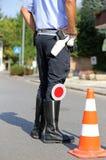 Polizei in einem Kontrollpunkt Lizenzfreie Stockfotos