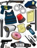 Polizei-Einzelteile Stockfotografie