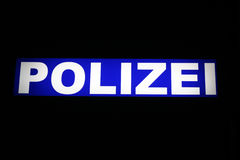 Polizei, German police Stock Photo
