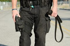 Polizei-Hund Stockbild