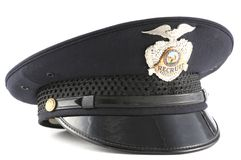Polizei-Hut Lizenzfreies Stockfoto