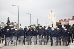 Polizei im greec Kongreß 09-01-09 Stockfotografie