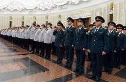 Polizei ist ein Teil des vereinheitlichten zentralisierten Systems des Innenministeriums der Russischen Föderation Stockfoto