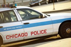 Polizei-Kreuzer in Chicago stockbild