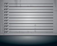 Polizei Mughsot Hintergrund Lizenzfreies Stockbild