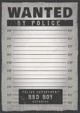 Polizei Mugshothintergrund Stockfotos